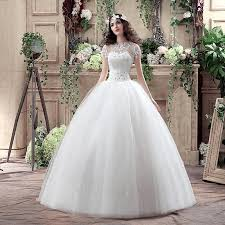 wedding dress korea 2016 new arrival korea sweetheart sleeve white lace up