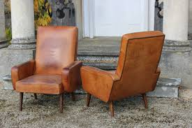 Stylish Armchairs Very Stylish Pair Of 1960s French Leather Armchairs Furniture