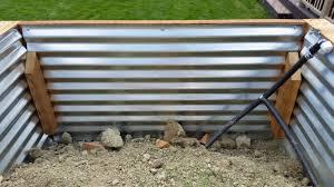 corrugated steel garden boxes