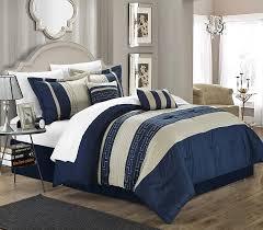 Blue King Size Comforter Sets Amazon Com Chic Home Carlton 6 Piece Comforter Set King Size