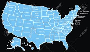 Usa Map Vector by Nice Usa Map On The Black Background Royalty Free Cliparts