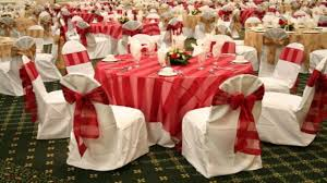 chair and table sets red and white wedding reception decoration