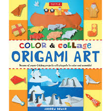 color u0026 collage origami art kit tuttle publishing