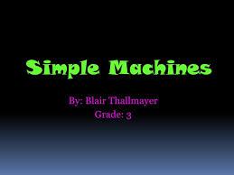 my presentation on simple machines