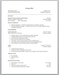 First Resume Templates Resumes For Jobs Examples Professional Resume Example List