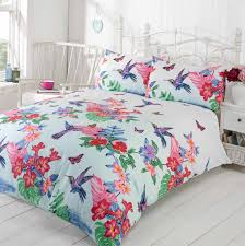 Bird Duvet Covers Tropical Nature Humming Birds Duvet Cover Set With Pretty Flowers