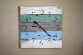 Clock Made Of Clocks by Large Wall Clock Modern Yet Rustic Beach House Style