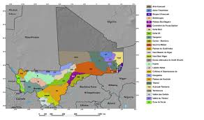 Mali Map Africa by Ecoregions And Topography Of Mali West Africa