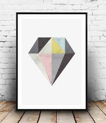 Diamond Home Decor by Diamond Print Geometric Home Decor Abstract Art U2013 Wallzilladesign