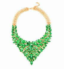 gold green necklace images Wholesale large chunky statement necklace black costume jewelry jpg