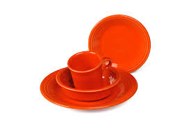 fiestaware egg plate 4 place setting poppy kitchen dining