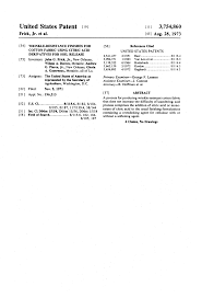 patent us3754860 wrinkle resistance finishes for cotton fabric