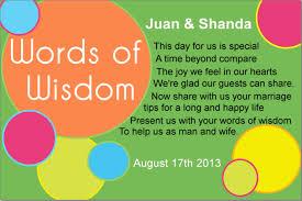 Words Of Wisdom Cards Mspanda U0027s Wedding Planning Words Of Wisdom Cards