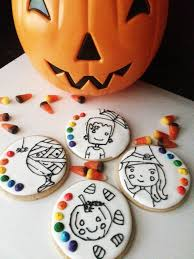 Decorated Halloween Sugar Cookies by Paint Your Own Halloween Cookies Sweet Jenny Belle Easy