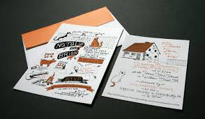 Backyard Wedding Invitations Hand Drawn Wedding Invitation Samantha Wittchen Philadelphia