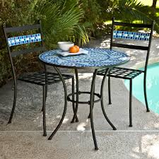 Bistro Patio Table And Chairs Set Coral Coast Marina Mosaic Bistro Set Hayneedle