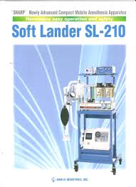 anesthesia machine with isofluren vaporizer softlander sl 210