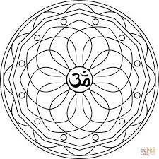 om mandala coloring page kids drawing and coloring pages marisa