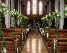 Wedding Flowers Church Trees Church Aisle Flowers Pew Ends Vintage Greenery Garden