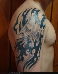 half sleeve wolf howling moon tattoos photos pictures and