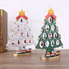 diy wooden christmas ornaments festival party xmas tree table desk