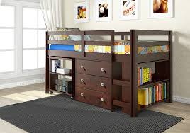 Kids Beds With Storage And Desk by Amazon Com Donco Kids 760 Cp Low Study Loft Bed Dark Cappuccino