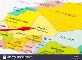 Guinea Africa Map by Red Arrow Pointing Mali On The Map Of Africa Continent Stock Photo