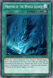 promise of the world legacy advanced card design yugioh card