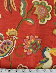 Upholstery Fabric With Birds Upholstery Fabric Drapery Fabric Birds Fabric Flowers Jungle