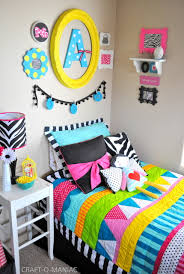 colorful little girls bedroom
