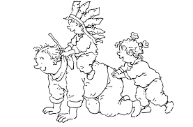 dagmar stam playing indian riding horse father coloring pages