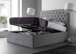Master Bedroom Furniture Set Bedroom Adorable Grey Upholstered Bed Frame Grey Sleigh Bed Wood