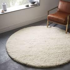 long shag rug darby wool shag rug round west elm