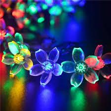 where to buy cheap fairy lights 50 led flower solar powered fairy lights garden decor solar