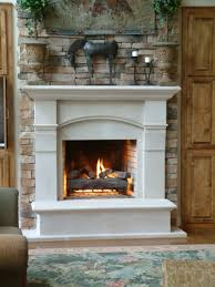 bring warm rustic atmosphere into your home with stone fireplace