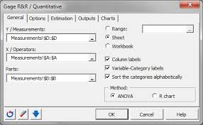 Gage R R Excel Template Gage R R For Quantitative Data In Excel Tutorial Xlstat
