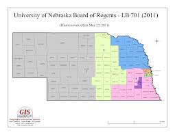 Nebraska State Map by University Of Nebraska Administration District Map