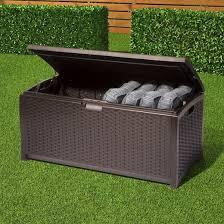 resin wicker deck box 73 gallon brown suncast target