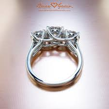stone set rings images What ratio of center stone to accent diamonds is best for a 3 jpg