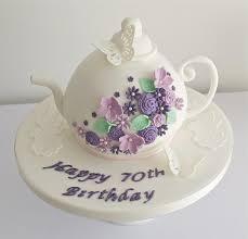 70th birthday cakes wedding cakes teapot 70th birthday cake 1930709 weddbook