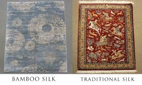 Area Rug Buying Guide Traditional Silk Vs Bamboo Silk Area Rugs