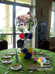 Buzz Lightyear Centerpieces by Toy Story Bubble Balloon Centerpiece With Cow Print Extreme