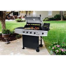 Brinkmann Backyard Kitchen Brinkmann 61 500 Btu 4 Burner Gas Grill With Side Burner