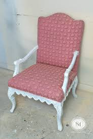 painting fabric with chalk style paints granny chair makeover