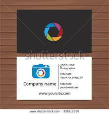 photographer business card template two sided stock vector