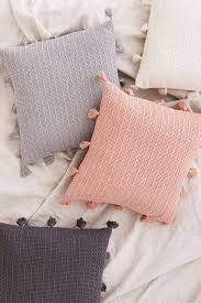 sage solid crochet pillow crochet pillow urban outfitters and urban