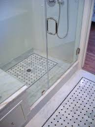 marble basketweave floor white subway tile bathroom bathroom
