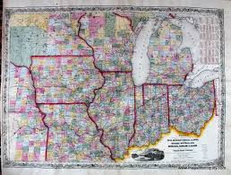 Indiana State Map Guide Through Ohio Michigan Indiana Illinois Missouri