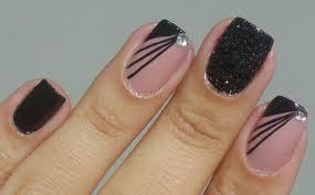 bela e simples nail art