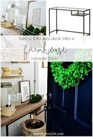 ikea entryway table ikea vittsjo hack a farmhouse entryway table rustic farmhouse
